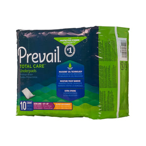Underpad Prevail® Total Care™ 30 X 30 Inch Disposable Polymer Heavy Absorbency