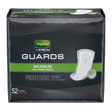 Bladder Control Pad Depend® Guards for Men 12 Inch Length Heavy Absorbency Absorb-Loc® Core One Size Fits Most Adult Male Disposable