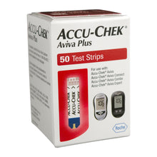 Load image into Gallery viewer, Blood Glucose Test Strips Accu-Chek® Aviva Plus 50 Strips per Box Tiny 0.6 microliter drop For Accu-Chek® Aviva Blood Glucose Meter