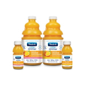Thickened Beverage Thick-It® Clear Advantage® 64 oz. Bottle Orange Flavor Ready to Use Nectar Consistency