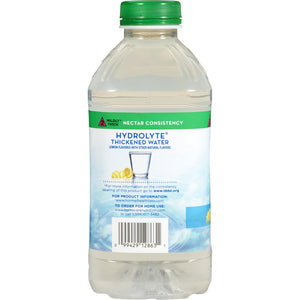 Thickened Water Thick & Easy® Hydrolyte® 46 oz. Bottle Lemon Flavor Ready to Use Nectar Consistency