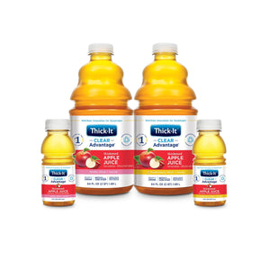 Thickened Beverage Thick-It® Clear Advantage® 8 oz. Bottle Apple Flavor Ready to Use Nectar Consistency