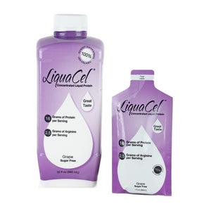 Oral Protein Supplement LiquaCel™ Grape Flavor Ready to Use 32 oz. Bottle