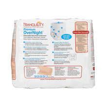 Load image into Gallery viewer,  Unisex Adult Absorbent Underwear Tranquility® Premium OverNight™ Pull On with Tear Away Seams 2X-Large Disposable Heavy Absorbency