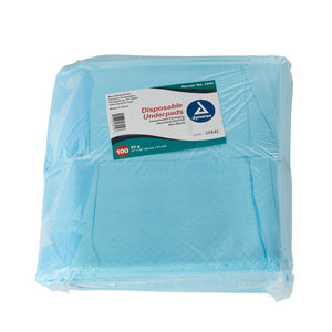 Underpad Dynarex® 17 X 24 Inch Disposable Fluff Light Absorbency