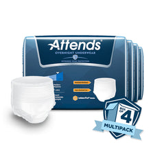 Load image into Gallery viewer,  Unisex Adult Absorbent Underwear Attends® Overnight Pull On with Tear Away Seams Medium Disposable Heavy Absorbency