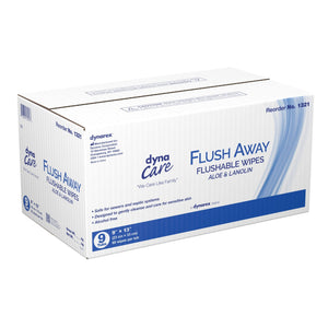 Flushable Personal Wipe Flush Away Adult Tub Aloe / Lanolin Scented 60 Count