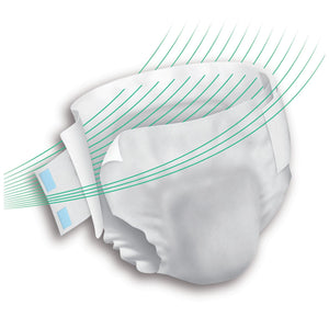 Unisex Adult Incontinence Brief Prevail® Breezers 360°™ Size 1 Disposable Heavy Absorbency