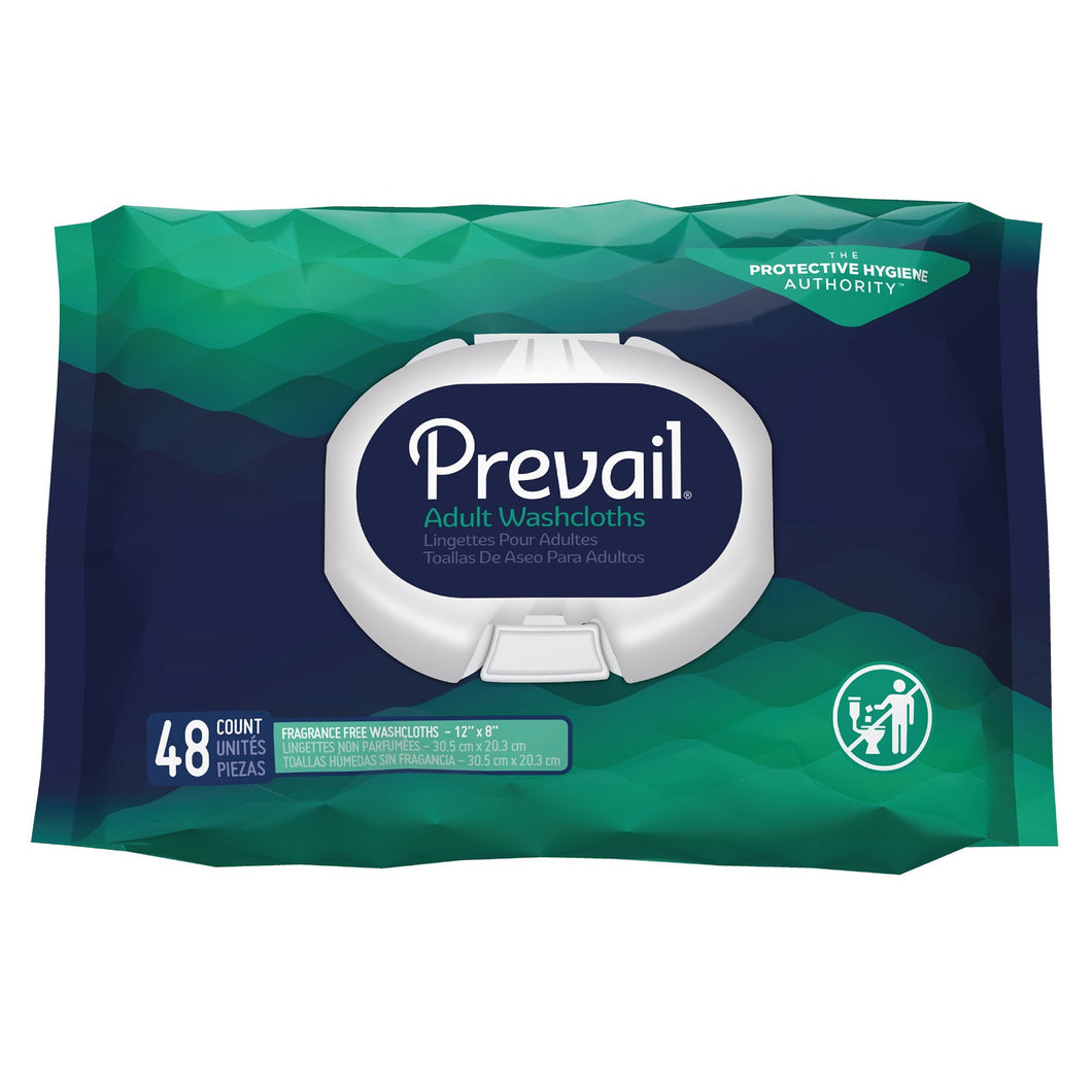 Personal Wipe Prevail® Soft Pack Aloe / Vitamin E / Chamomile Unscented 48 Count