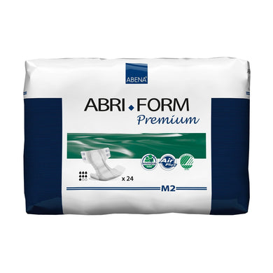 Unisex Adult Incontinence Brief Abri-Form™ Premium M2 Medium Disposable Heavy Absorbency