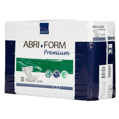 Unisex Adult Incontinence Brief Abri-Form™ Premium M4 Medium Disposable Heavy Absorbency