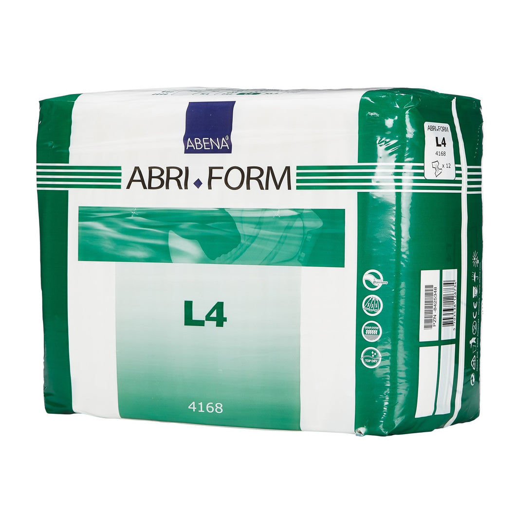 Unisex Adult Incontinence Brief Abri-Form™ Comfort L4 Large Disposable Heavy Absorbency