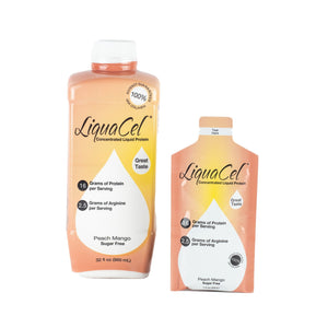 Oral Protein Supplement LiquaCel™ Peach Mango Flavor Ready to Use 32 oz. Bottle