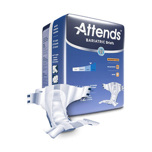 Unisex Adult Incontinence Brief Attends® Advanced 2X-Large Disposable Heavy Absorbency