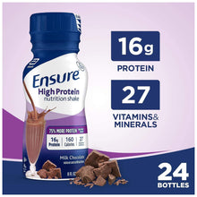 Load image into Gallery viewer, Oral Supplement Ensure® High Protein Chocolate Flavor Ready to Use 8 oz. Bottle