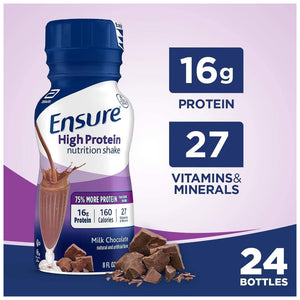 Oral Supplement Ensure® High Protein Chocolate Flavor Ready to Use 8 oz. Bottle