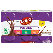 Load image into Gallery viewer, Oral Supplement Boost® Women Rich Chocolate Flavor Ready to Use 8 oz. Bottle