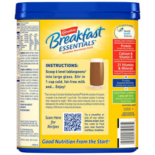 Load image into Gallery viewer, Oral Supplement Carnation® Breakfast Essentials® Rich Milk Chocolate Flavor Powder 17.7 oz. Canister