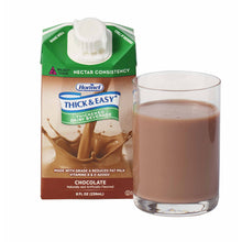Load image into Gallery viewer, Thickened Beverage Thick & Easy® Dairy 8 oz. Carton Chocolate Flavor Ready to Use Nectar Consistency
