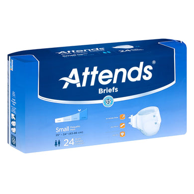 Unisex Adult Incontinence Brief Attends® Small Disposable Heavy Absorbency