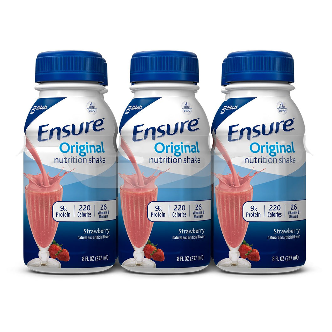 Oral Supplement Ensure® Original Strawberry Flavor Ready to Use 8 oz. Bottle
