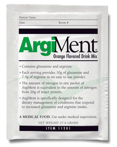 Arginine / Glutamine Supplement ArgiMent® Orange Flavor 24.6 Gram Individual Packet Powder