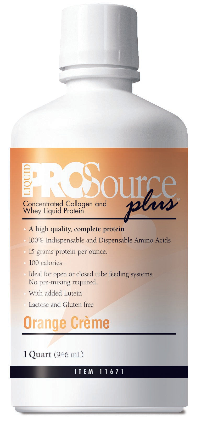 Protein Supplement ProSource Plus™ Orange Crème Flavor 32 oz. Bottle Ready to Use