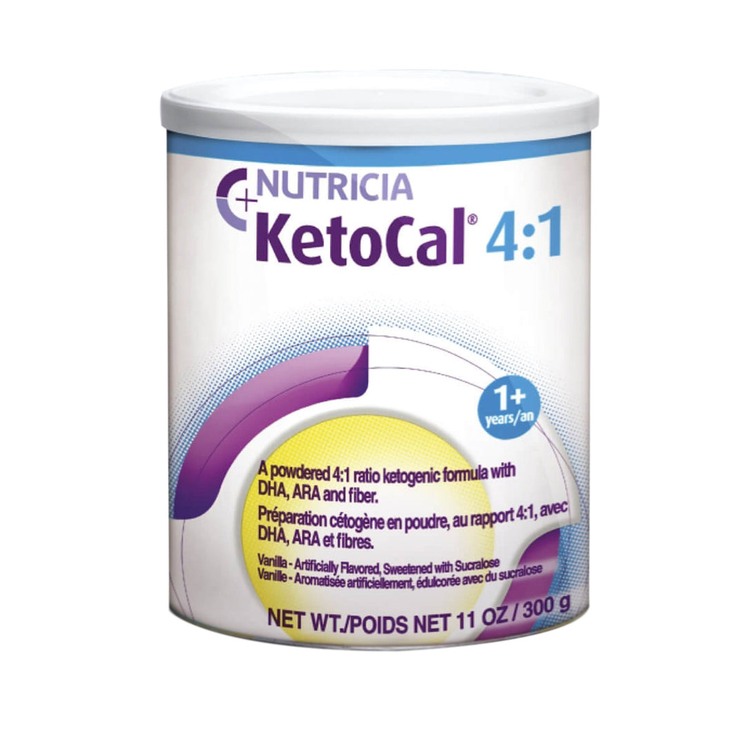 Oral Supplement KetoCal® 4:1 Vanilla Flavor Powder 300 Gram Can