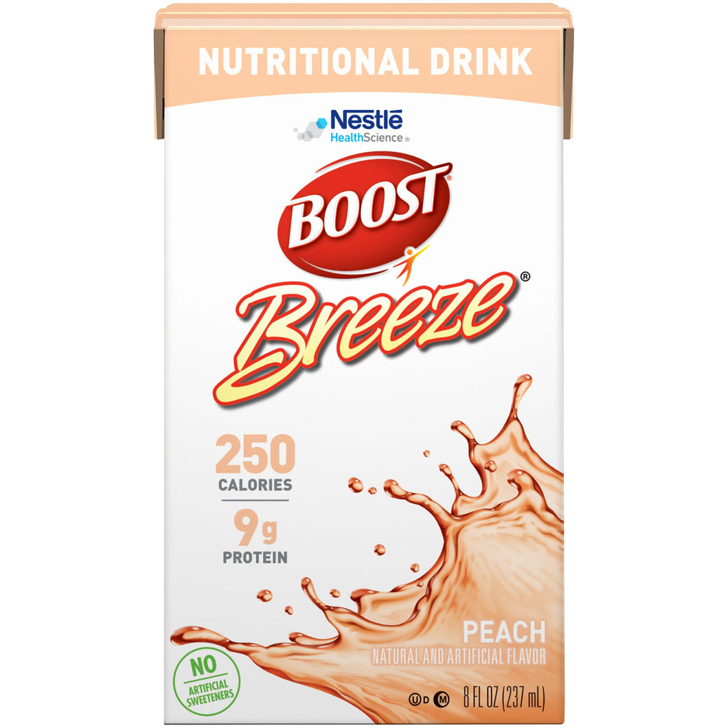 Oral Supplement Boost® Breeze® Peach Flavor Ready to Use 8 oz. Carton