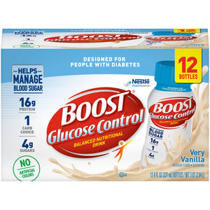 Oral Supplement Boost® Glucose Control® Very Vanilla Flavor Ready to Use 8 oz. Bottle
