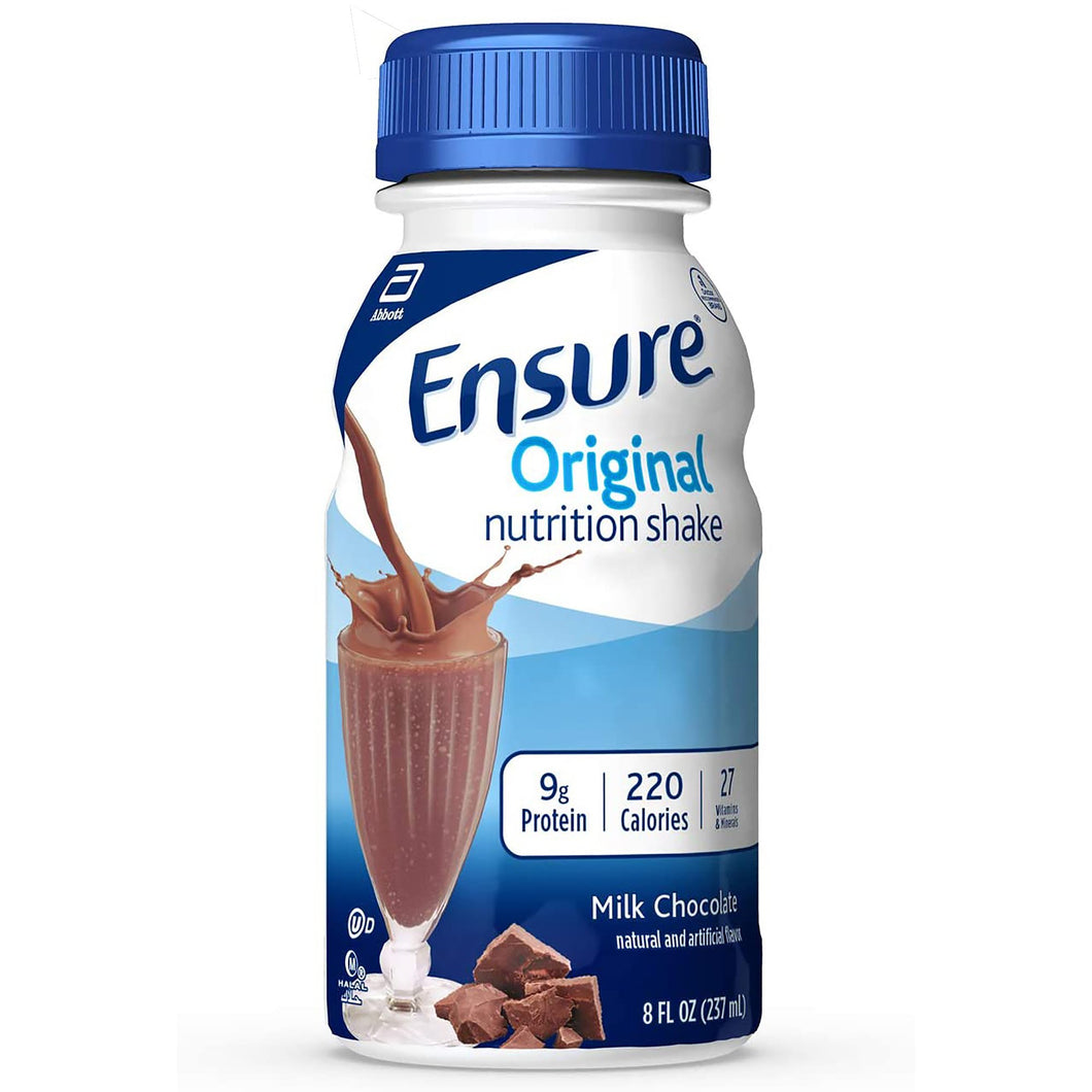 Oral Supplement Ensure® Original Chocolate Flavor Ready to Use 8 oz. Bottle