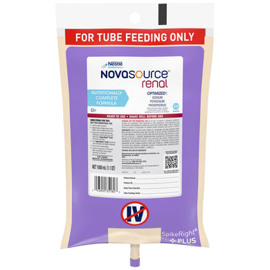 Tube Feeding Formula Novasource® Renal 33.8 oz. Bag Ready to Hang Unflavored Adult