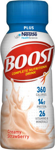 Oral Supplement Boost® Plus Creamy Strawberry Flavor Ready to Use 8 oz. Bottle