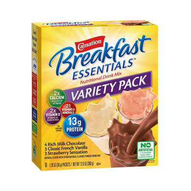 Oral Supplement Carnation® Breakfast Essentials® Variety Flavor Powder 36 Gram Individual Packet