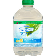 Load image into Gallery viewer,  Thickened Water Thick & Easy® Hydrolyte® 46 oz. Bottle Lemon Flavor Ready to Use Nectar Consistency