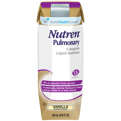 Oral Supplement / Tube Feeding Formula Nutren® Pulmonary Vanilla Flavor Ready to Use 250 mL Carton
