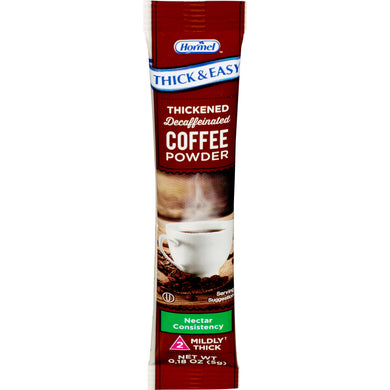 Thickened Decaffeinated Beverage Thick & Easy® 5 Gram Individual Packet Coffee Flavor Ready to Mix Nectar Consistency