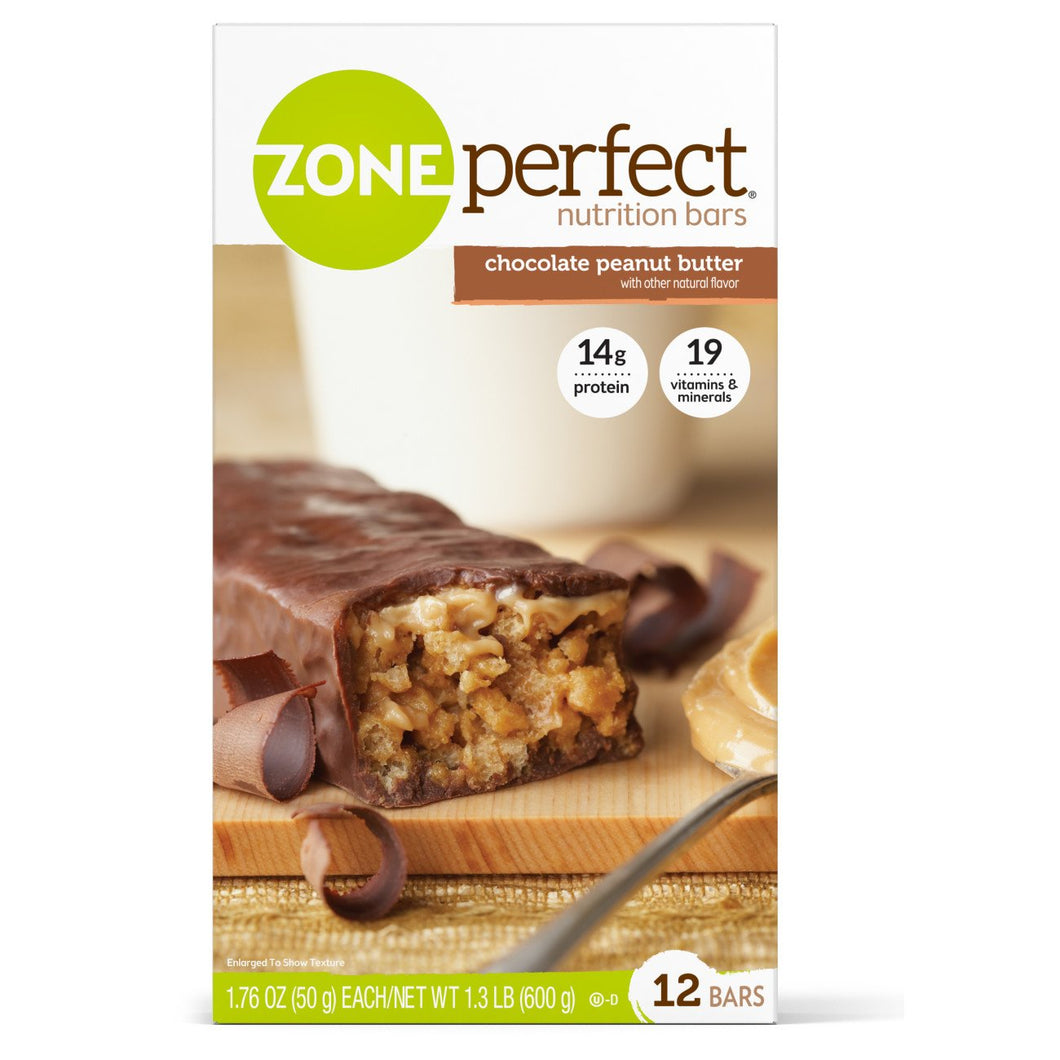 Nutrition Bar ZonePerfect® Chocolate Peanut Butter Flavor Ready to Use Individually Wrapped