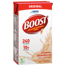 Load image into Gallery viewer,  Oral Supplement Boost® Creamy Strawberry Flavor Ready to Use 8 oz. Carton