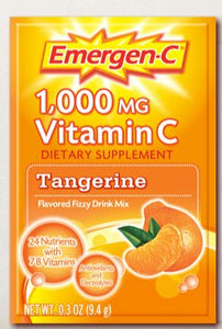 Oral Supplement Emergen-C® Tangerine Flavor Powder 0.3 oz. Individual Packet