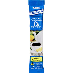 Decaffeinated Beverage Thickener Thick & Easy® 0.25 oz. Individual Packet Tea Flavor Powder Honey Consistency