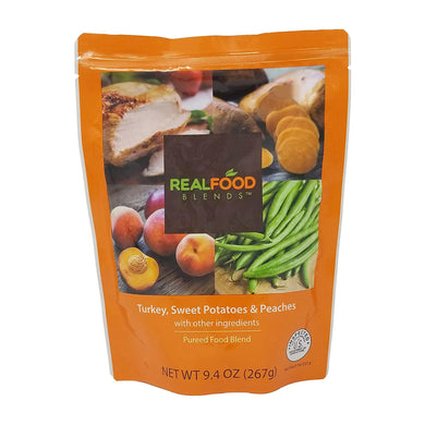 Tube Feeding Formula Real Food Blends™ 9.4 oz. Pouch Ready to Use Turkey / Sweet Potatoes / Peaches Adult / Child