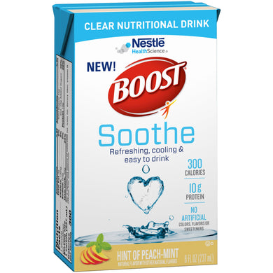 Oral Supplement Boost® Soothe Peach Mint Flavor Ready to Use 8 oz. Carton