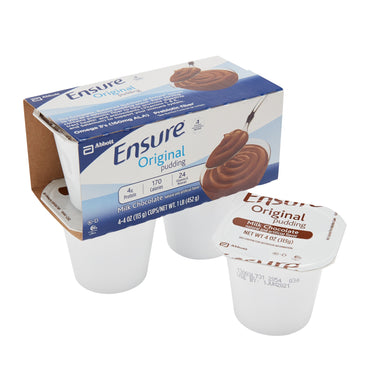 Oral Supplement Ensure® Pudding Creamy Milk Chocolate Flavor Ready to Use 4 oz. Cup