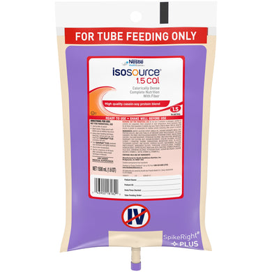 Tube Feeding Formula Isosource® 1.5 Cal 50.7 oz. Bag Ready to Hang Unflavored Adult