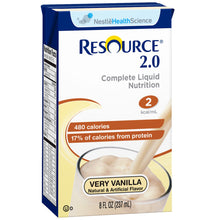 Load image into Gallery viewer,  Oral Supplement Resource® 2.0 Very Vanilla Flavor Ready to Use 8 oz. Carton