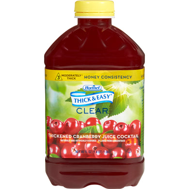 Thickened Beverage Thick & Easy® 46 oz. Bottle Cranberry Juice Cocktail Flavor Ready to Use Honey Consistency
