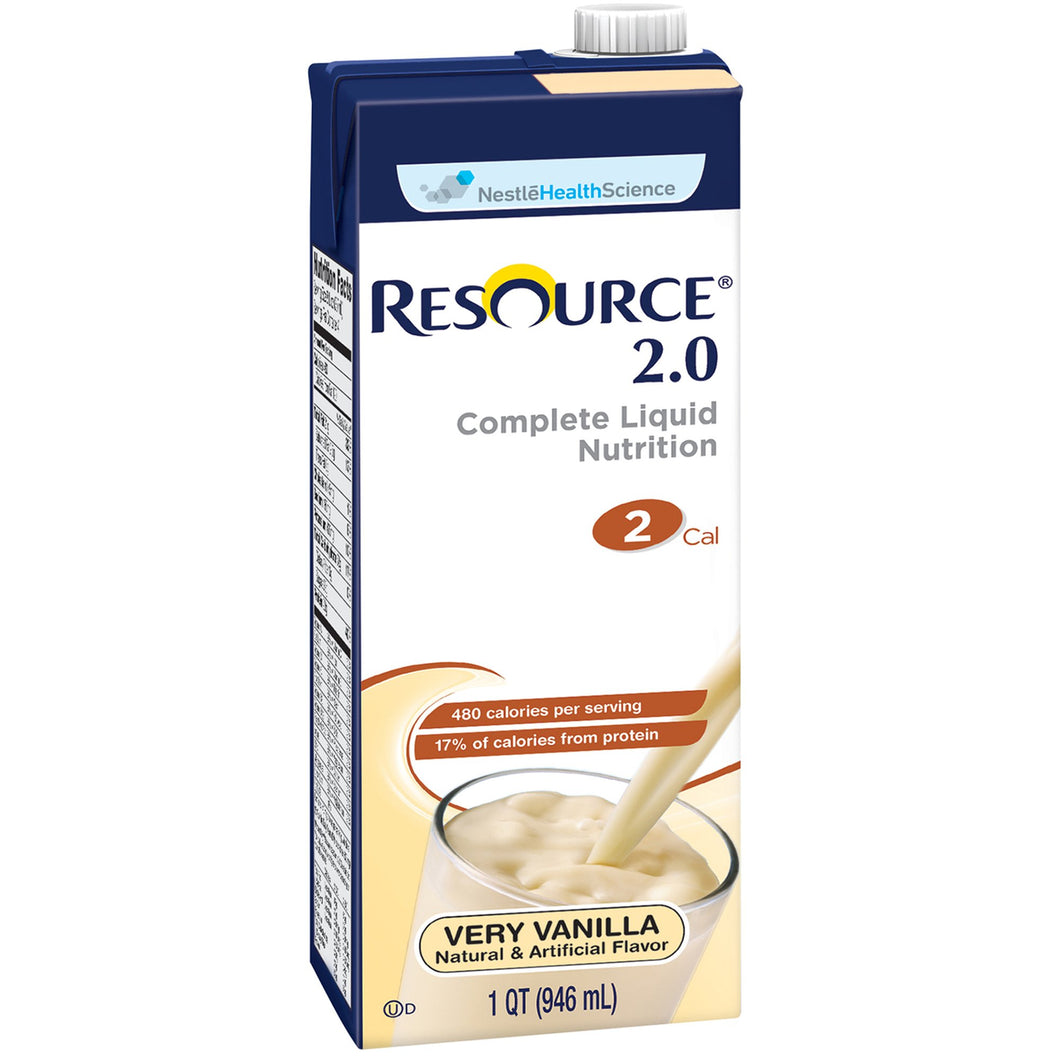Oral Supplement Resource® 2.0 Very Vanilla Flavor Ready to Use 32 oz. Carton