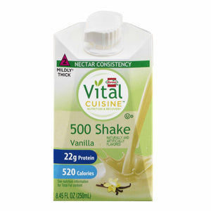 Oral Supplement Vital Cuisine® 500 Shake Vanilla Flavor Ready to Use 8.45 oz. Carton