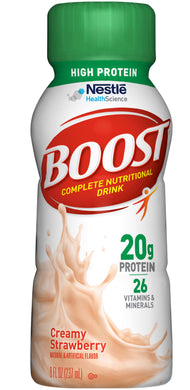Oral Supplement Boost® High Protein Creamy Strawberry Flavor Ready to Use 8 oz. Bottle